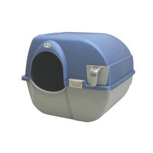 omega paw zelfreinigende kattenbak blauw