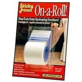Meubels beschermen tegen katten met Sticky Paws op rol + dispenser