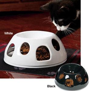 voerbak voor dikke kat wit