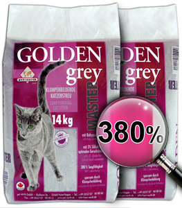 kattenbakvulling Golden Grey Master 2x14kg €12,49/zak Gratis verzending