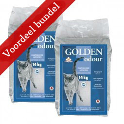 kattenbakvulling Golden Odour 2x14kg €11,99/zak Gratis verzending