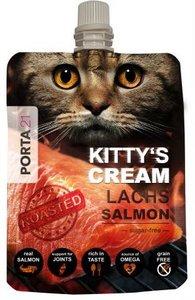 Kattensnack Kitty's Cream geroosterde zalm extreem lekker!