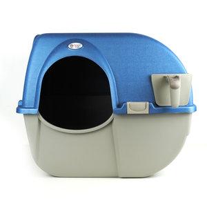 Zelfreinigende kattenbak Omega Paw Regular blauw / taupe
