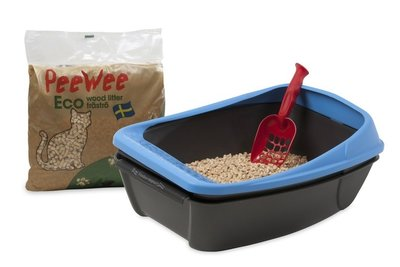 Open kattenbak PeeWee EcoBasic startpakket